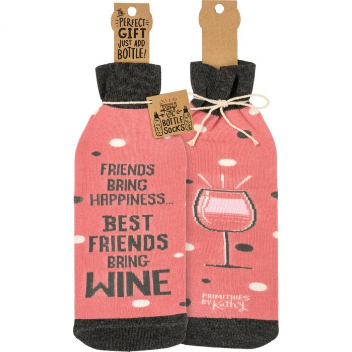 friends bring happiness bottle sock