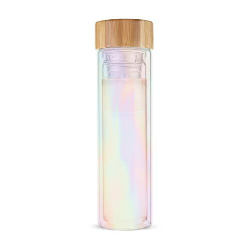 Blair Iridescent Glass Travel Infuser Mug by Pinky Up