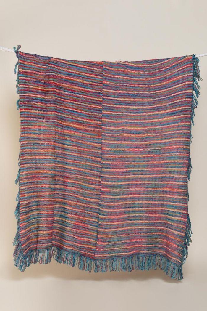 teal rainbow blanket