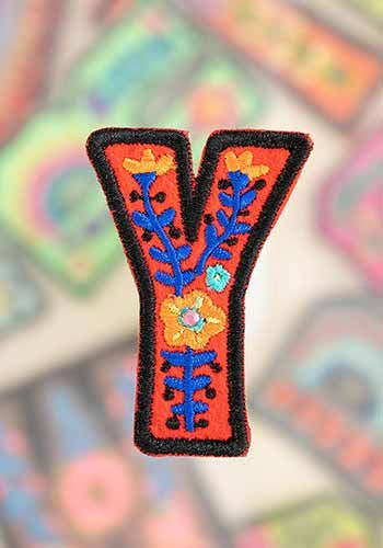 "letter patch ""y"""