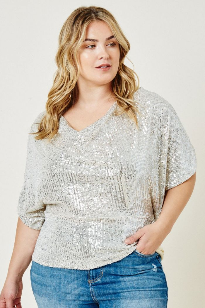 unlikely angel sequin top - Plus size
