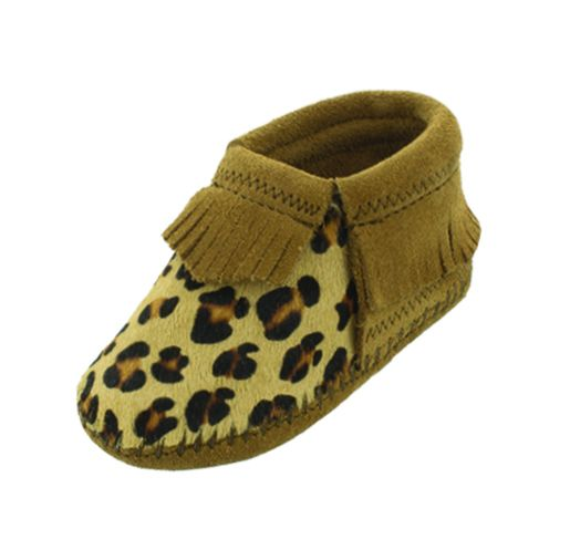 riley infant bootie - leopard