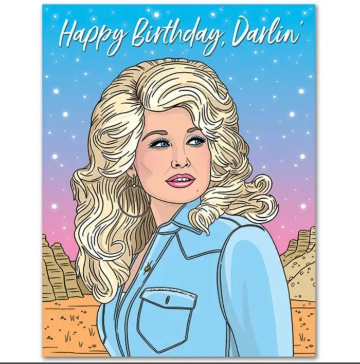 dolly darlin birthday card