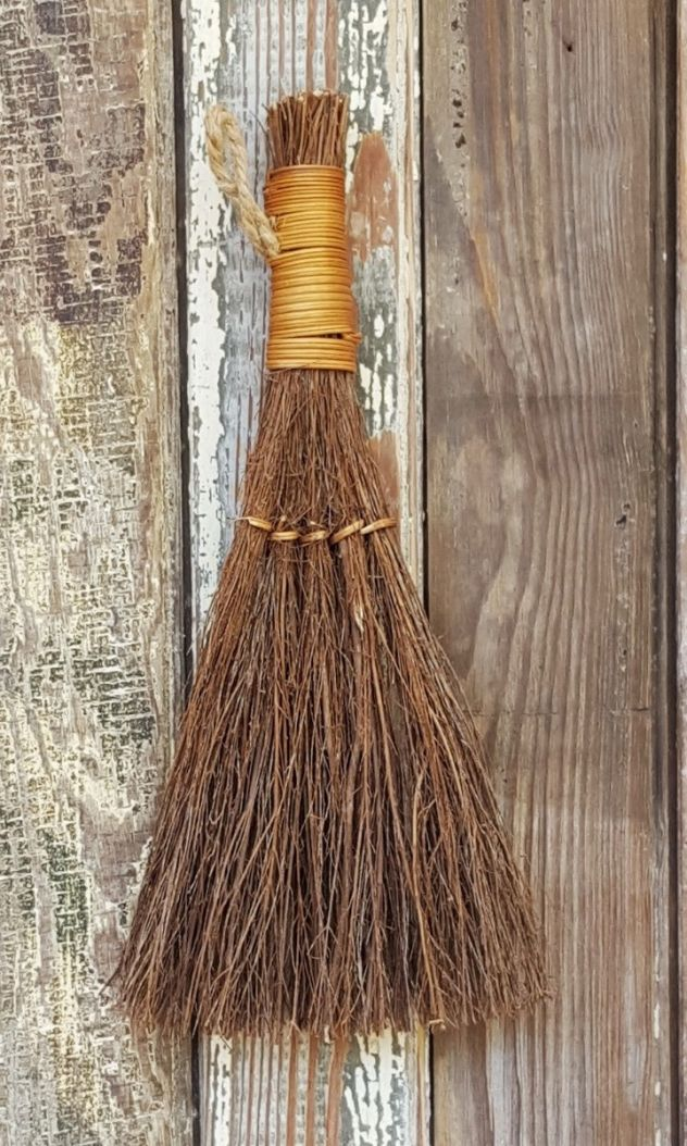 "12"" Cinnamon Broom - handmade in Georgia"