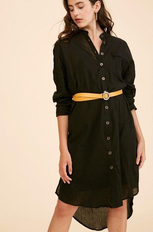 long story short button dress