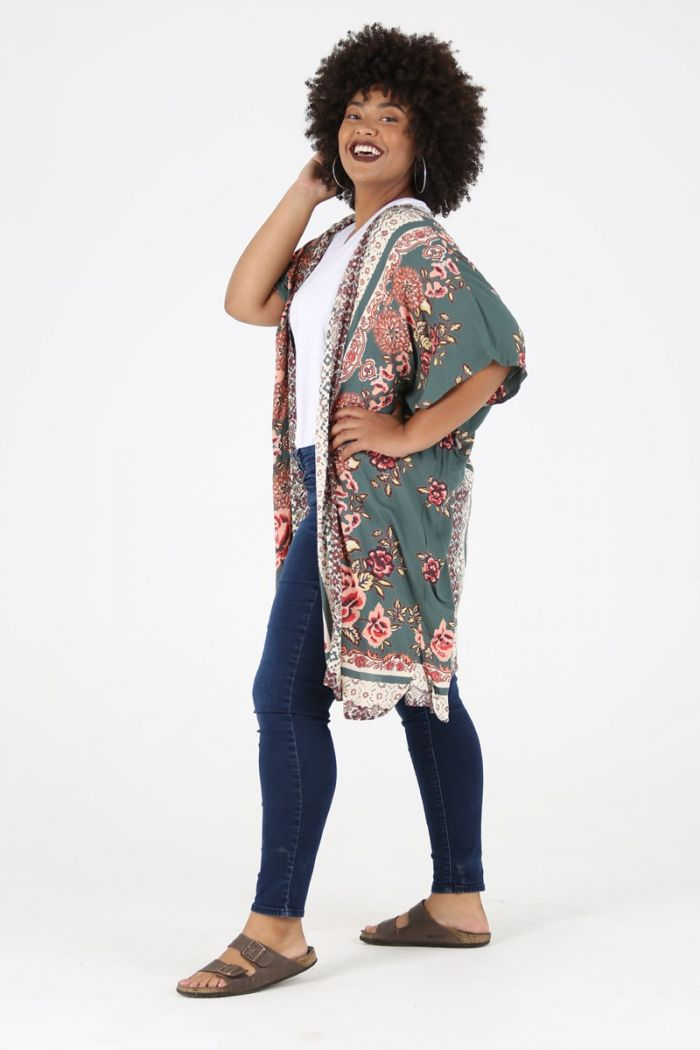 magic carpet ride tie front kimono