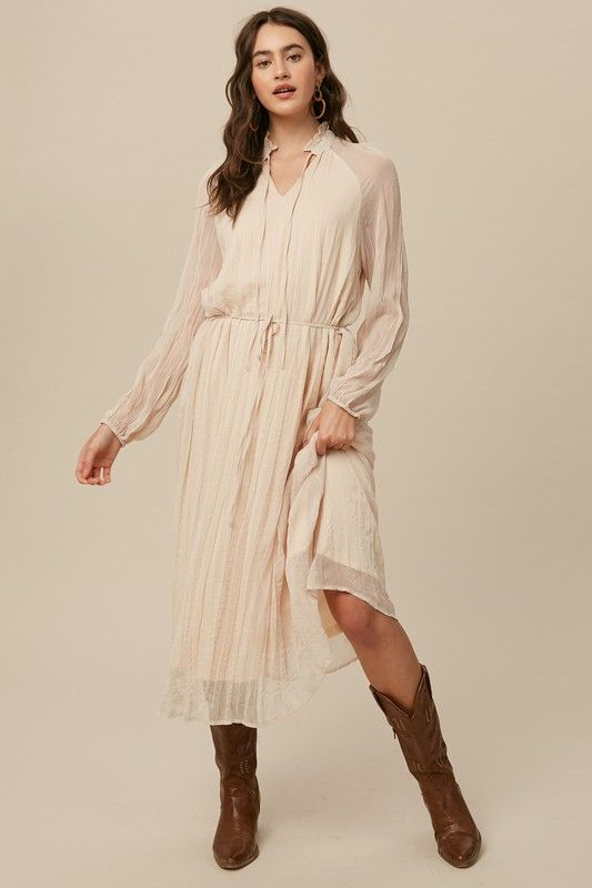 the folklore collared dress