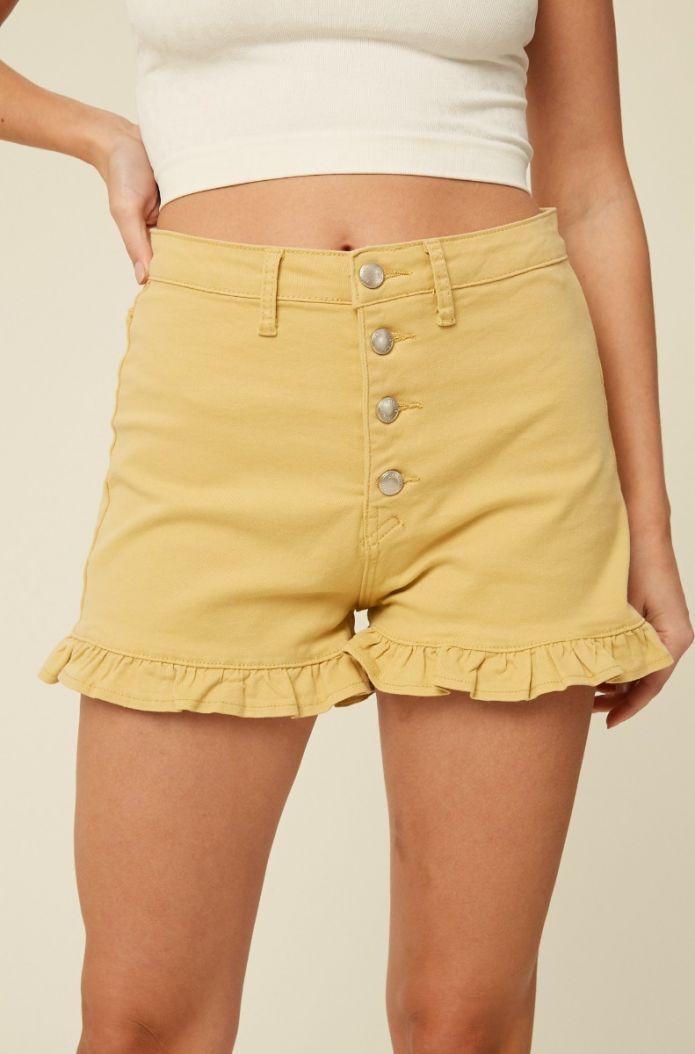 state of grace ruffle shorts