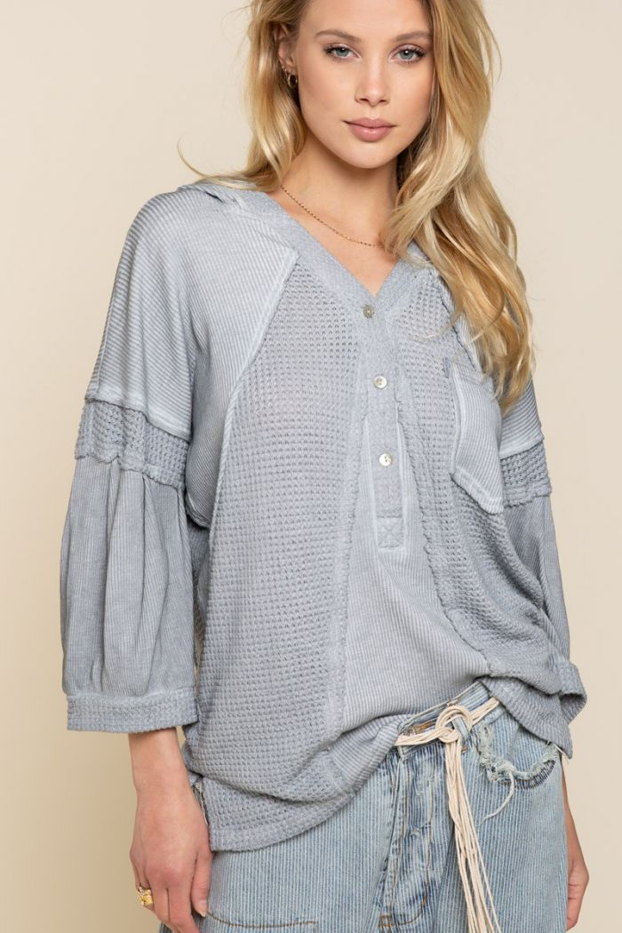 the delphine waffle knit top