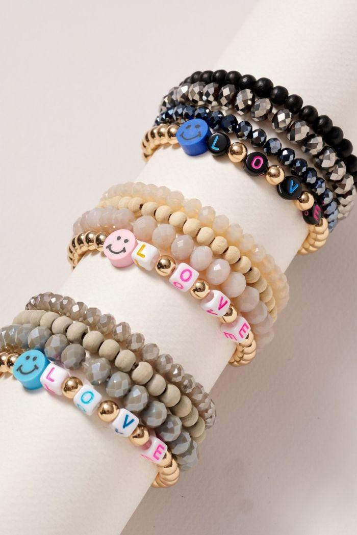 smiley bracelet set