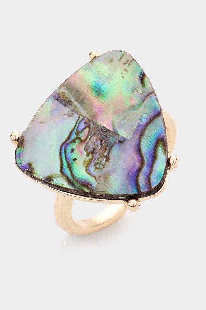 abalone triangle ring