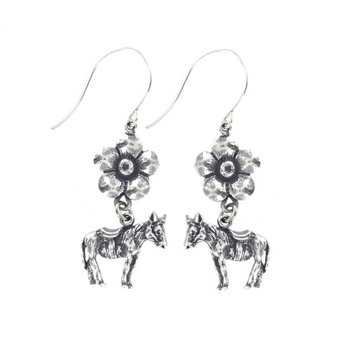 donkey flower earrings