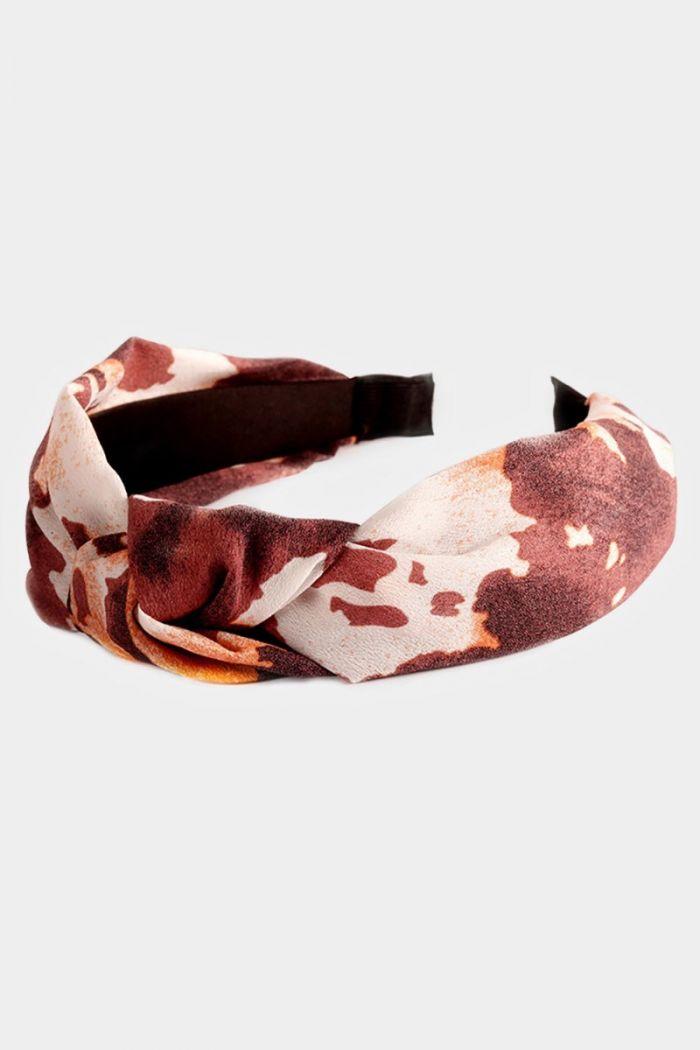 pattern burnout knot headband