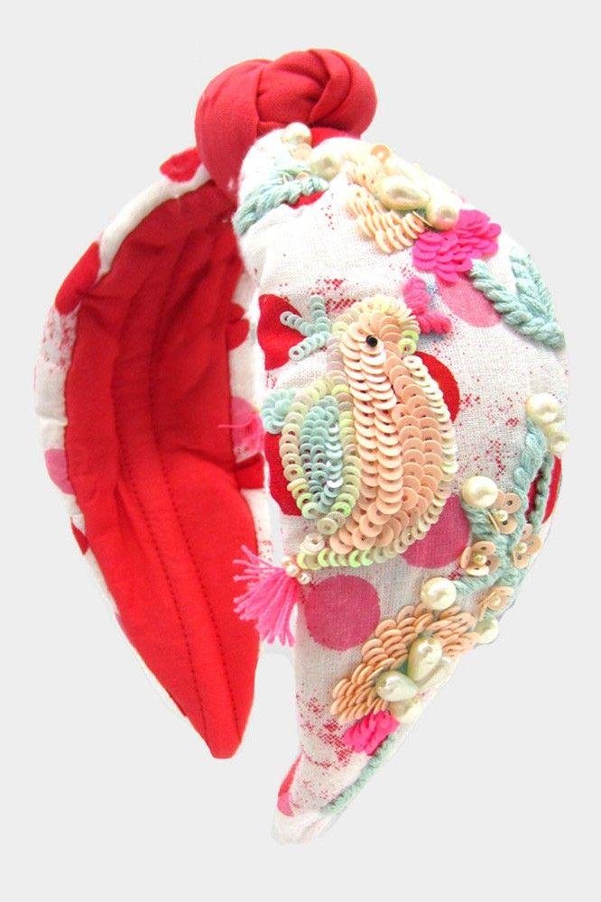 sequin parrot headband