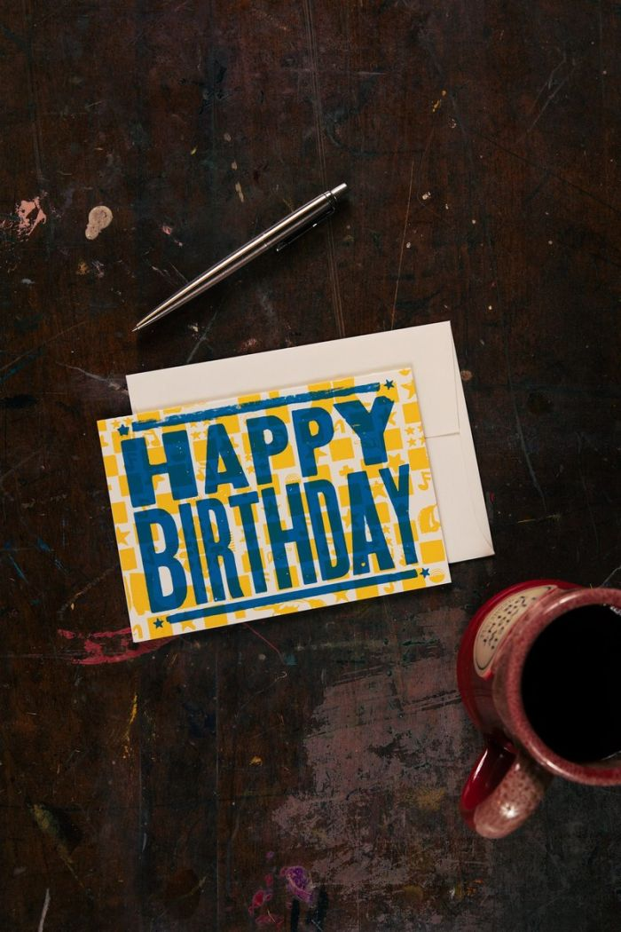 Hatch Showprint Happy Birthday Card