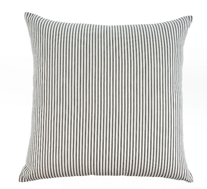 24x24 ticking cushion- black
