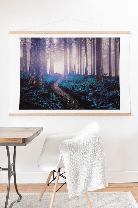 turquoise forest nature magick art