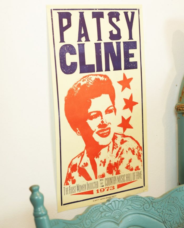 hatch showprint patsy cline poster
