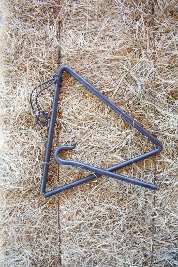Hand-Forged in Round Top -  blacksmith dinner bell triangle