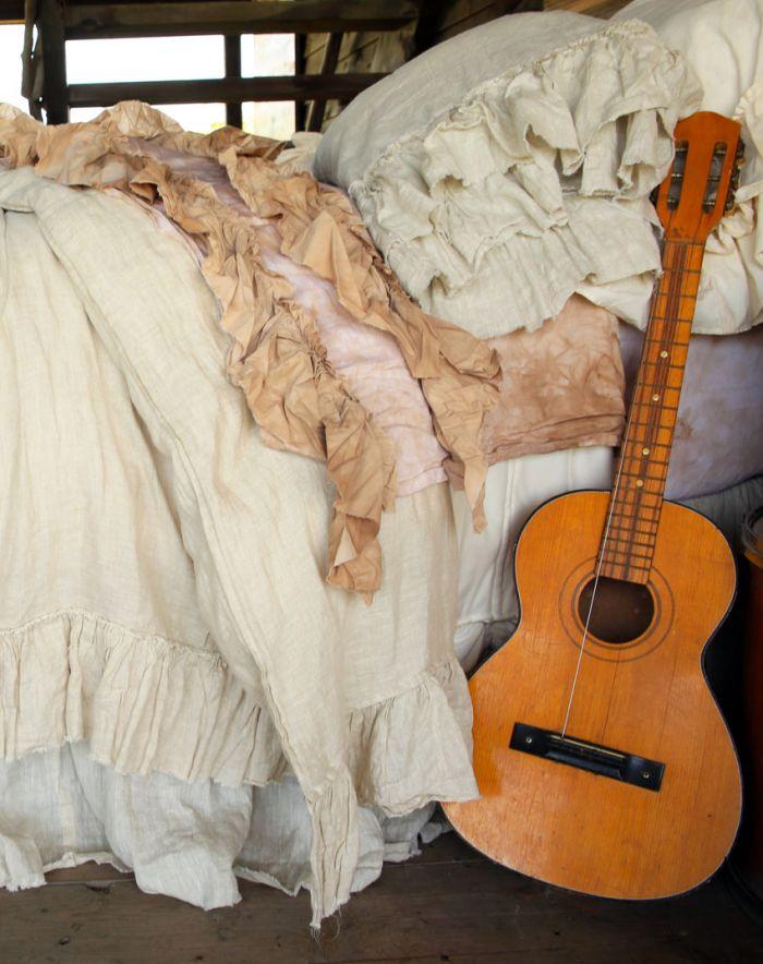 tattered flax duvet