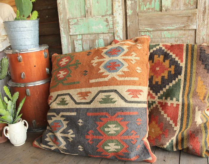 wander inn kilim pillows - grande size