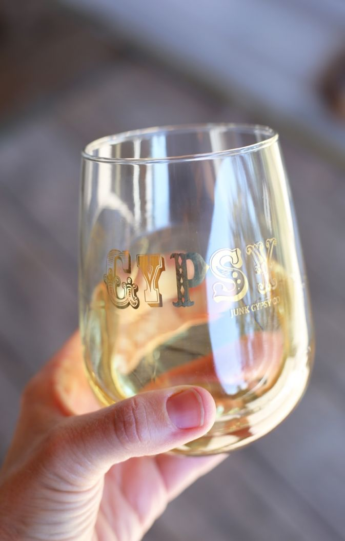 gypsy stemless wine glass