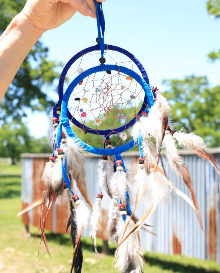 "single dream catcher 4.5"" -- with crystals"