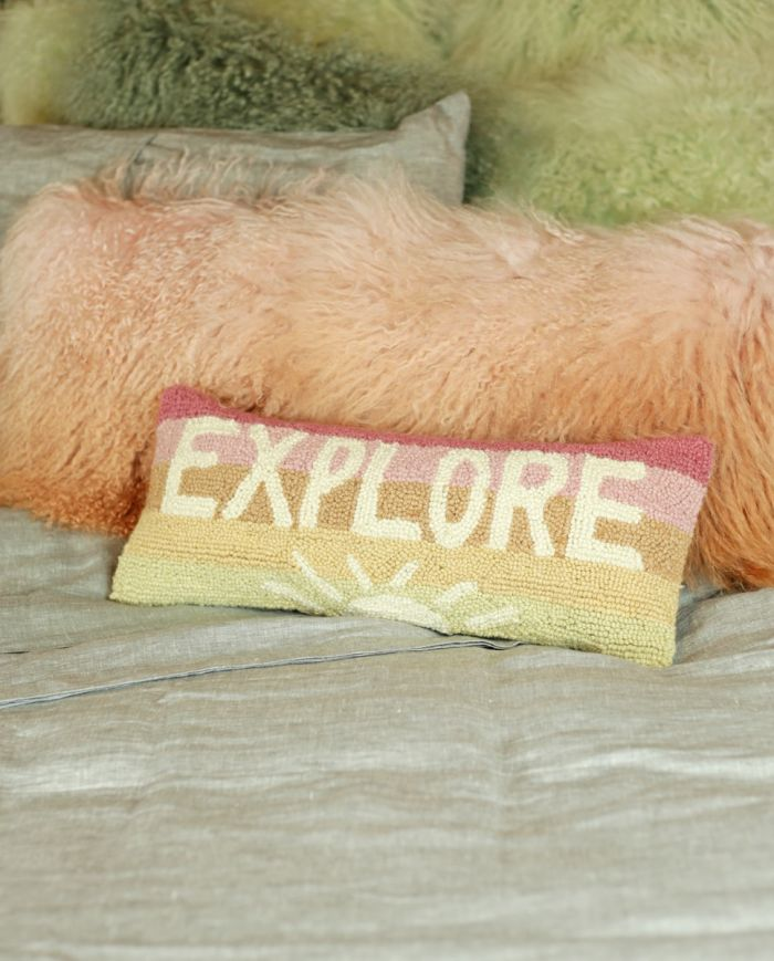 explore hooked pillow