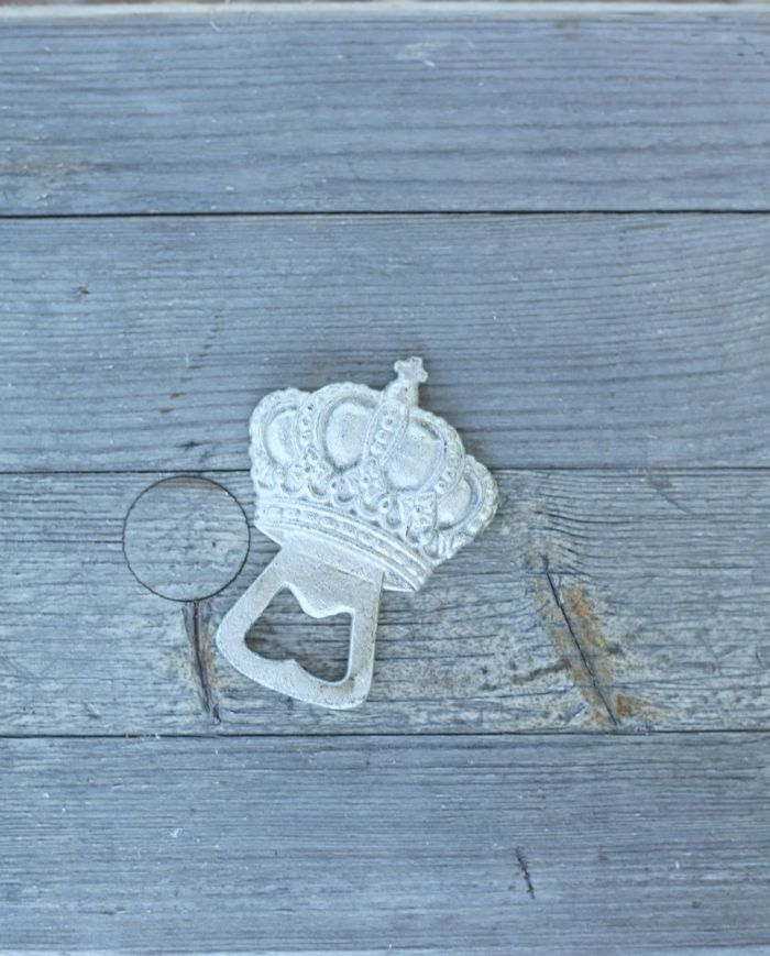 crown bottle opener silver