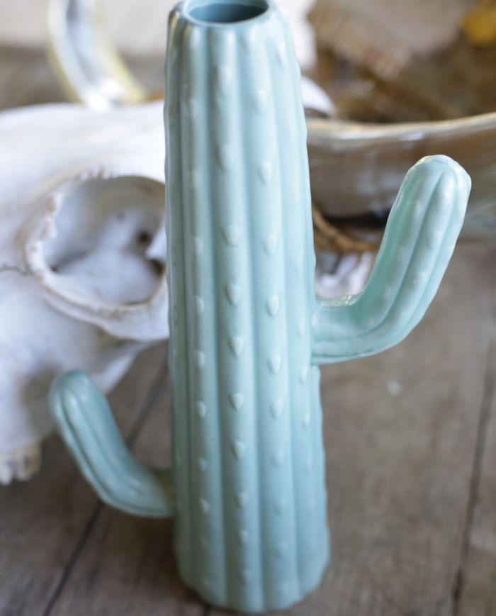 """sage cactus vase 11 7/8"""""""