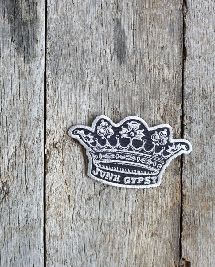 silver crown patch