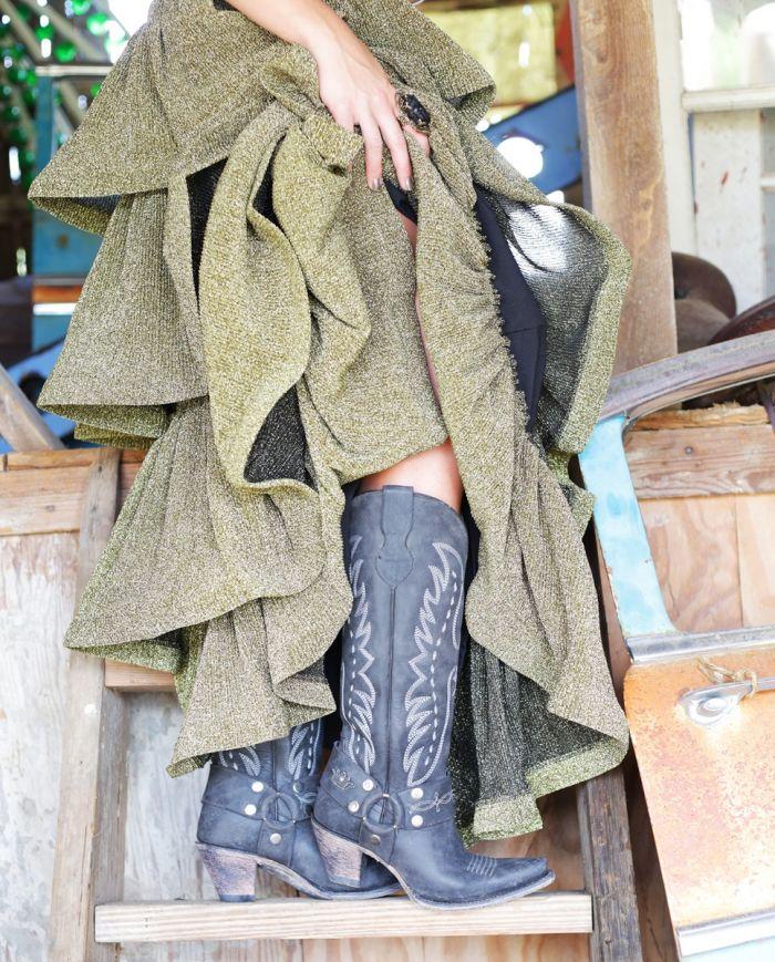 vagabond boot -  black stonewash