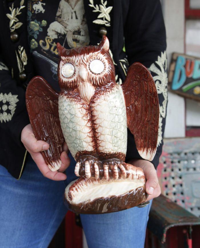 ceramic owl with light up eyes