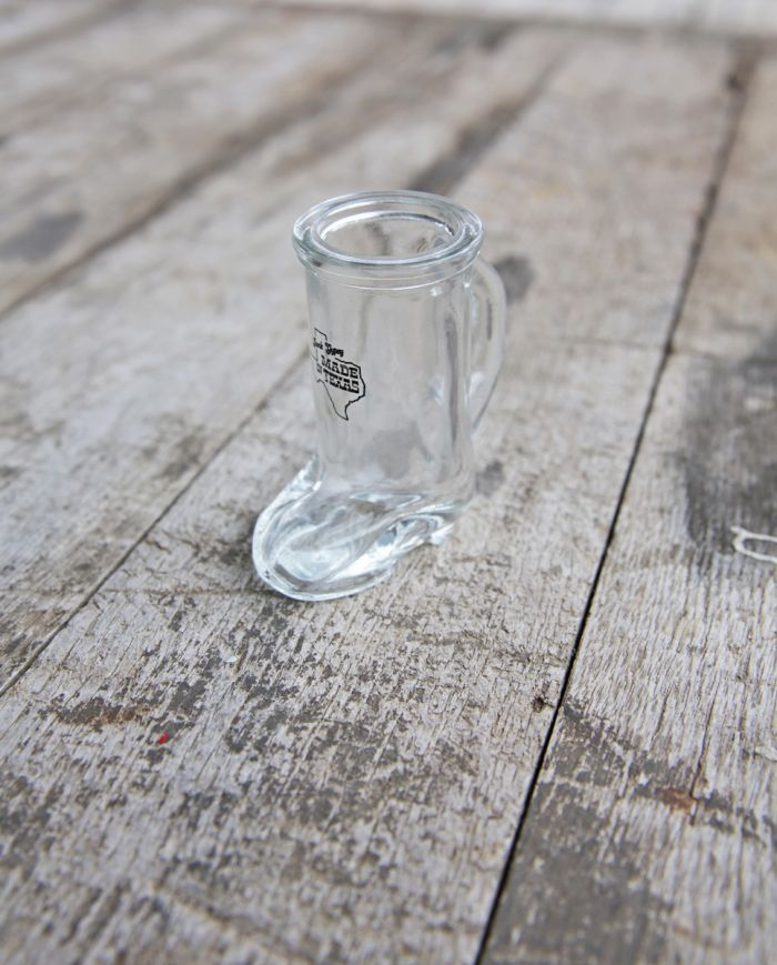 made in texas boot shot glass