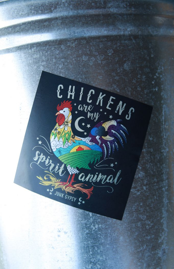 chickens are my spirit animal sticker