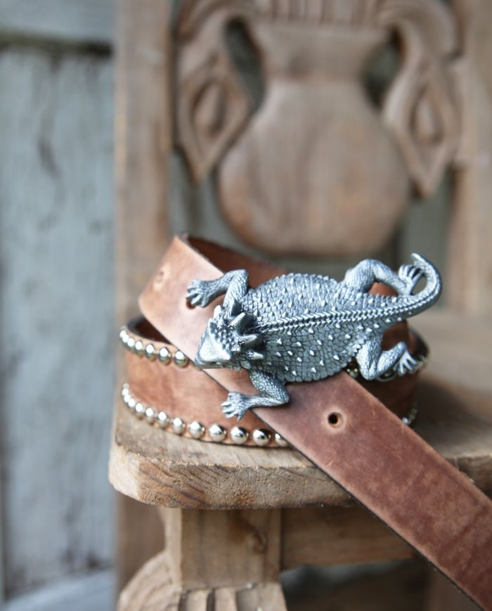 texas horny toad buckle