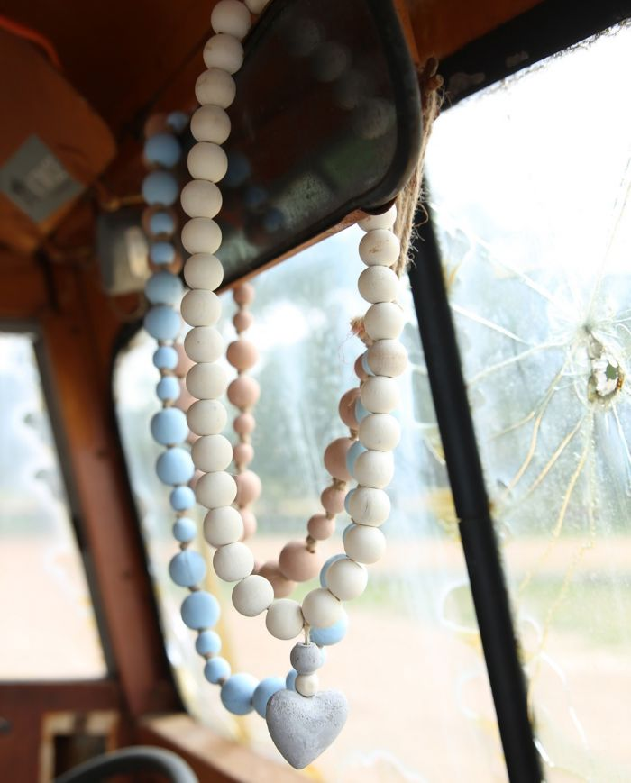 heart prayer beads- large