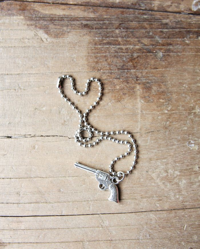 JG Pistol Pendant Necklace