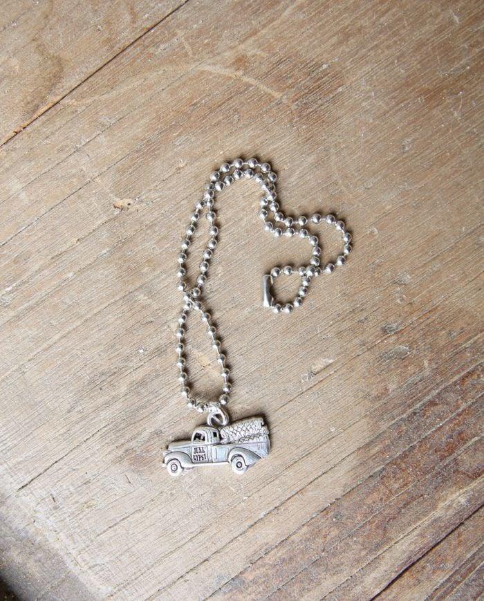 junk gypsy truck pendant necklace