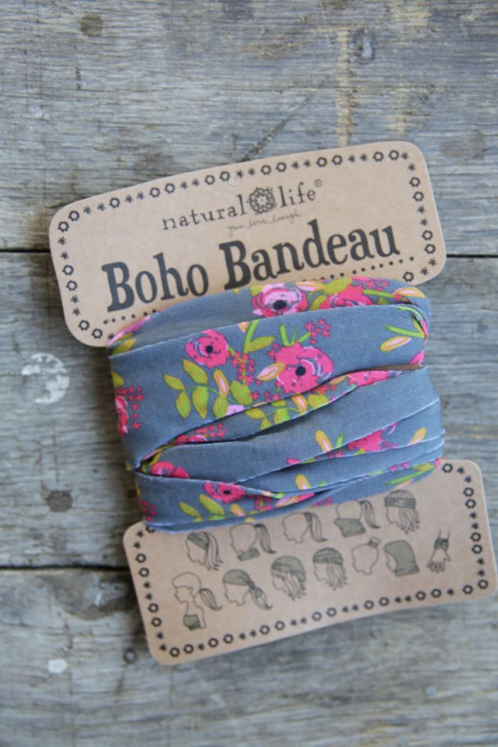 country blooms - gray boho bandeau