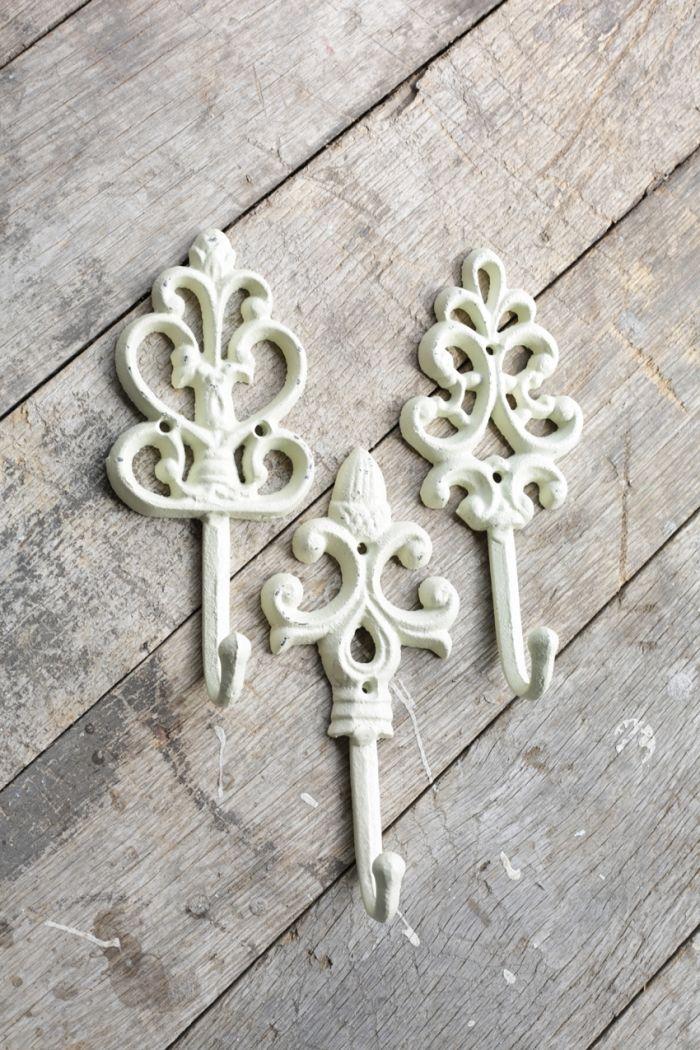 cream cast iron hook