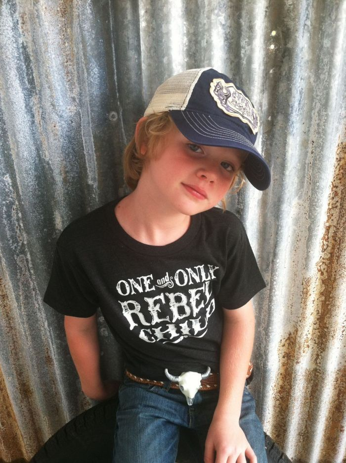 rebel child kids tee