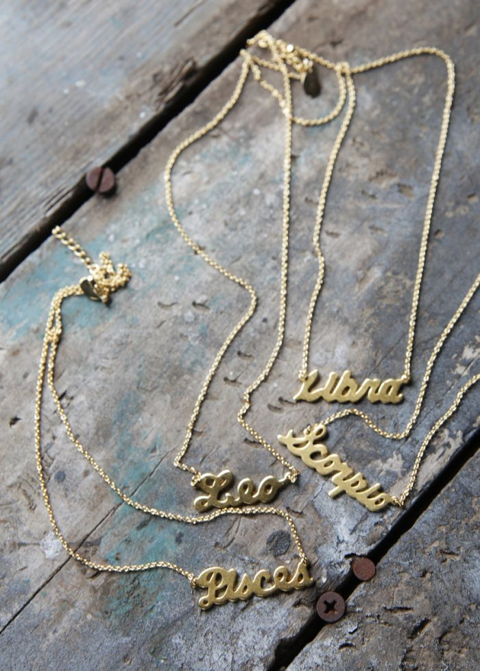 zodiac necklaces