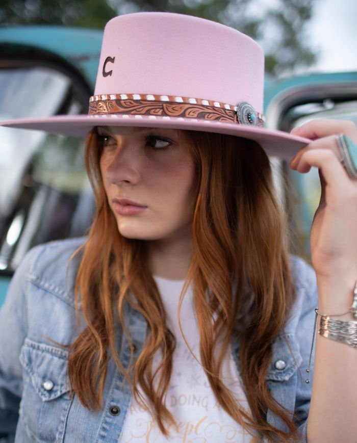 faded rose hat