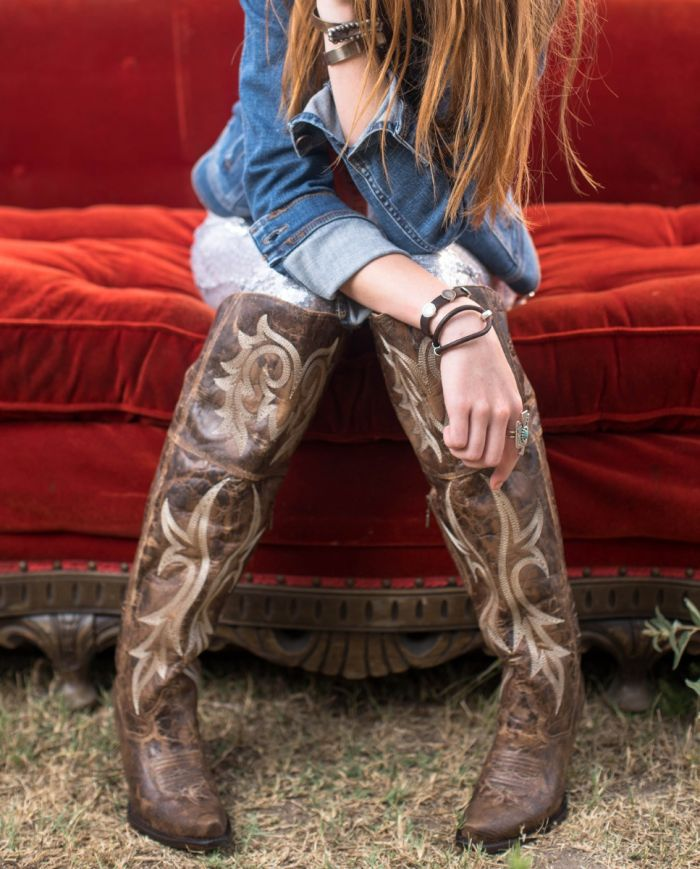 jilted leather boot