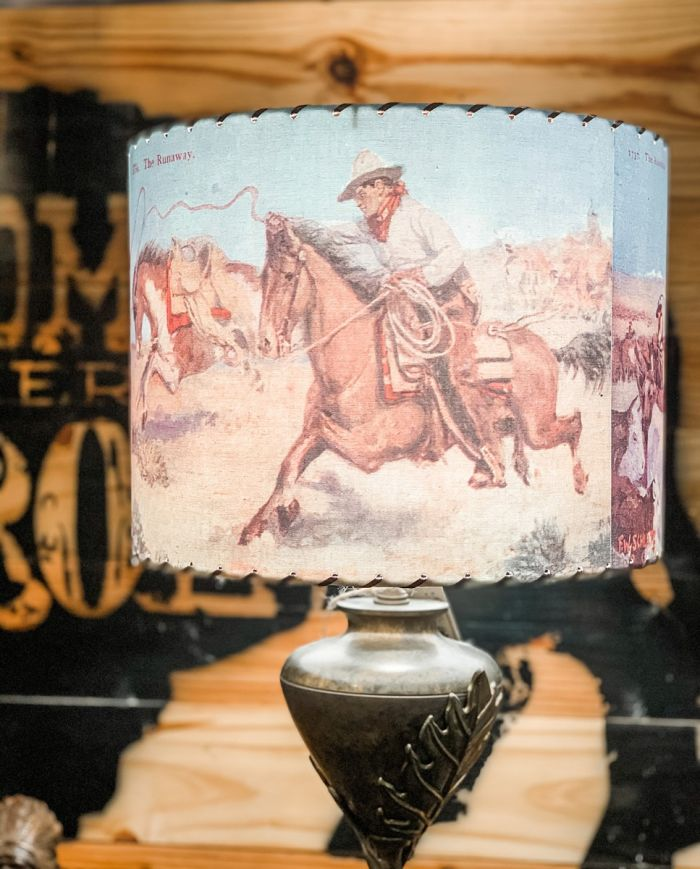 the roundup lamp shade