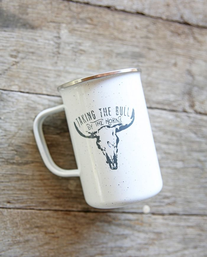 taking the bull by the horns mug