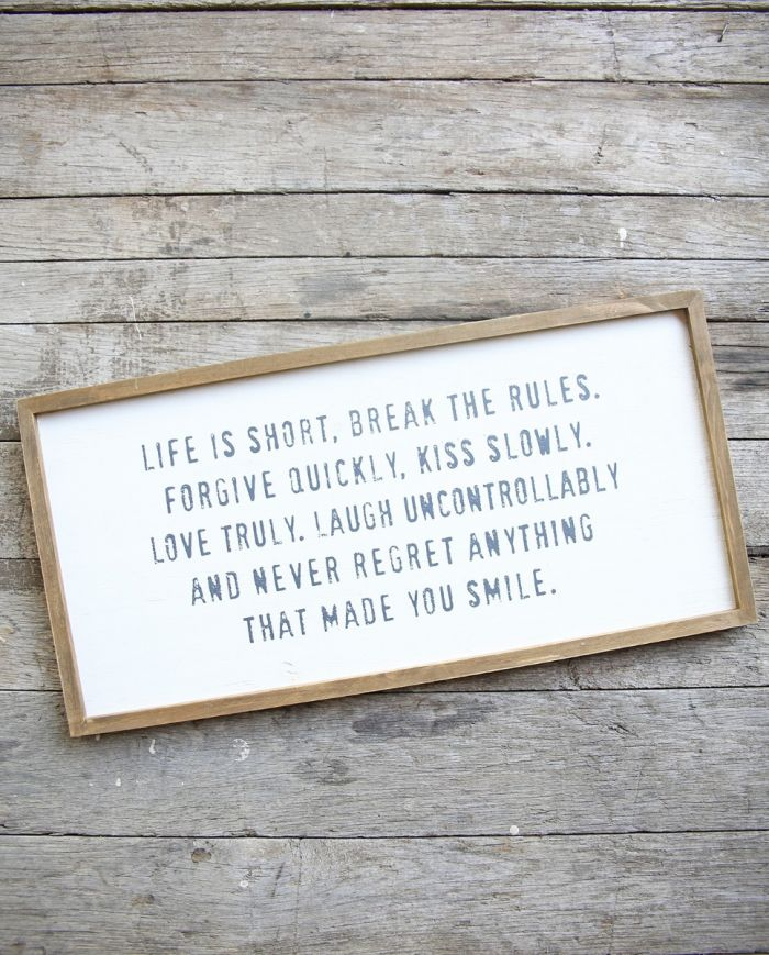 life is short framed print
