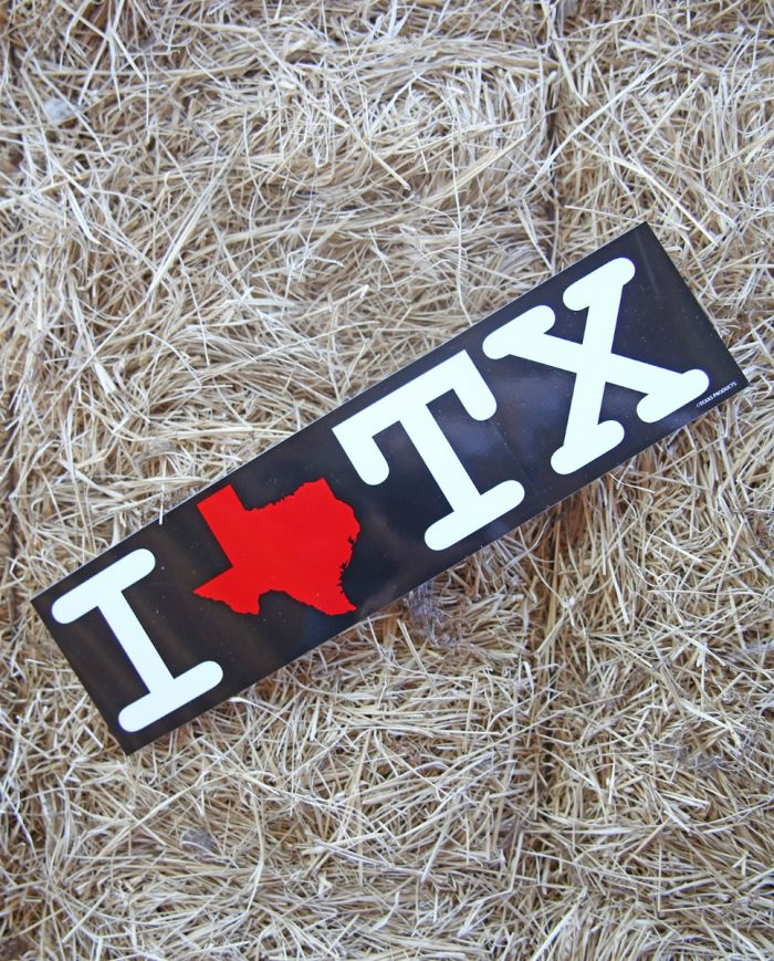 i love tx sticker