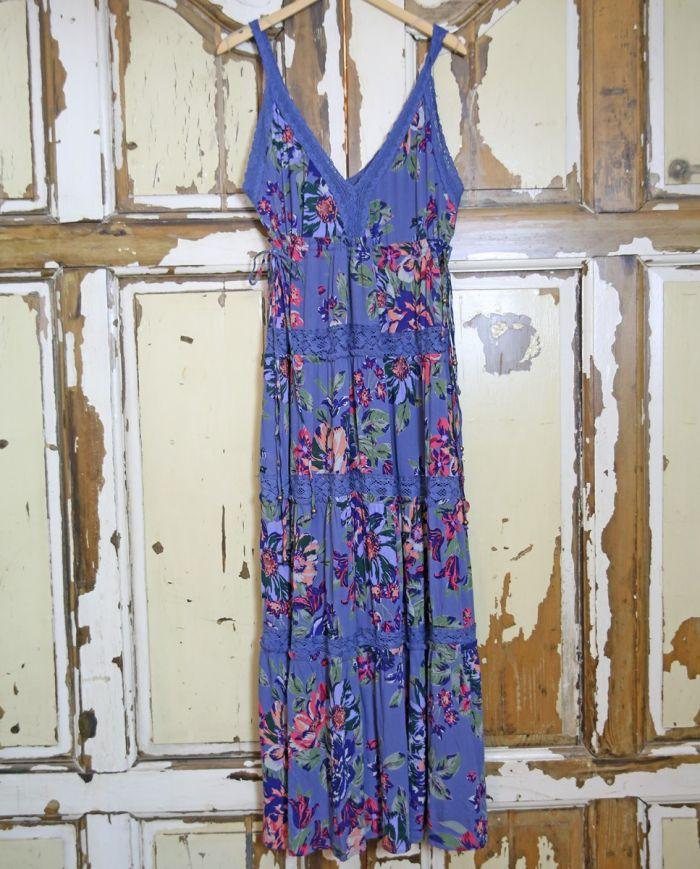 summer bouquet sleeveless maxi dress
